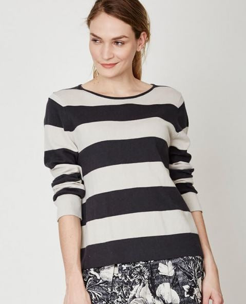 Organic Cotton & Wool Stripe Knit