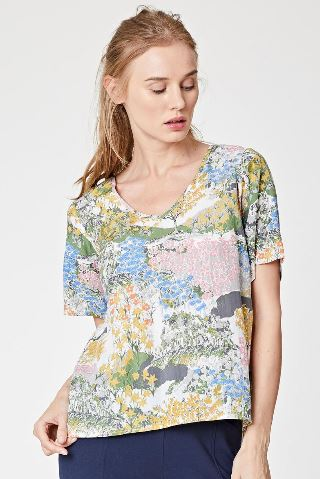Meadow Vintage Print Top