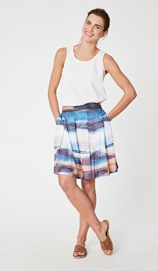 Seascape Tencel Skirt