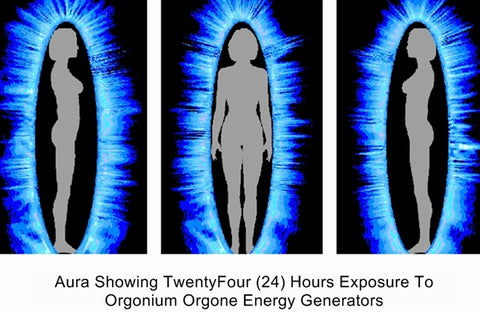 Aura After 24 Hours With Orgone Energy Generators