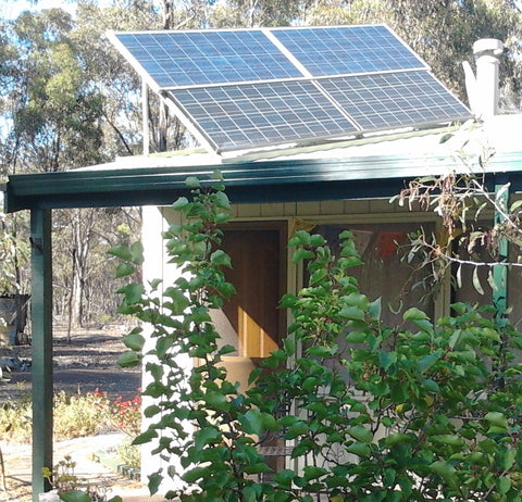 Some of the Solar Panels on our cottage on our property in the forest here in Australia