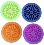 Orgone Water Energizer Plates In Yellow, Blue Orange And Purple