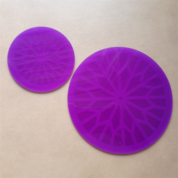 Purple Small And Large Orgone Energizer Ionization Plates