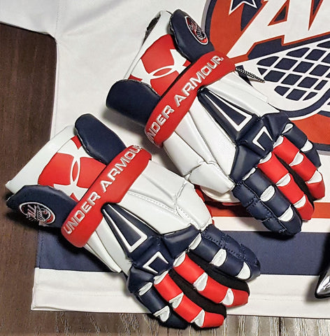 Under Armour Custom Red/White/Blue A.L.L. Command Gloves