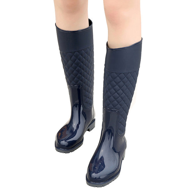 Boots - Navy Rain - Knee High