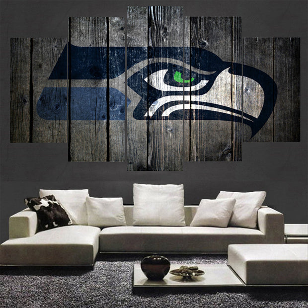 Canvas Painting Wall Art - Logo on Wood