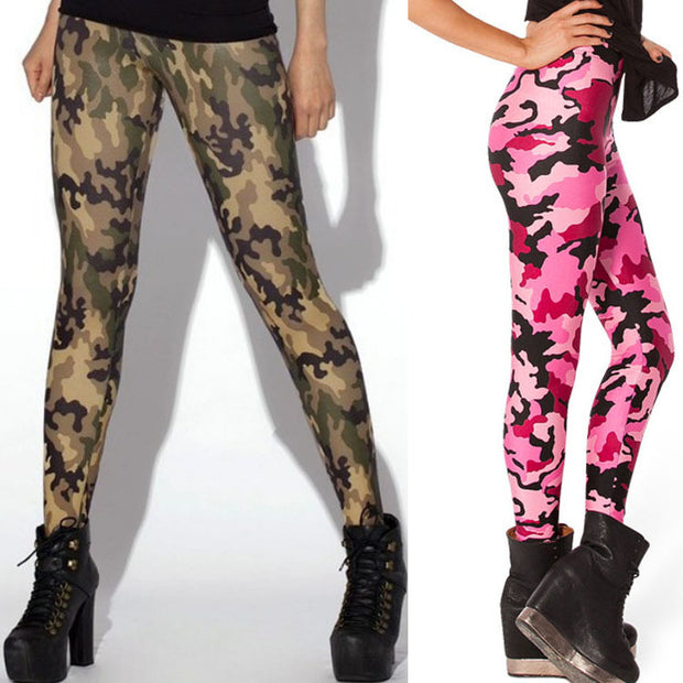 #Breast Cancer Awareness Month Leggings - Pink Women's Camouflage