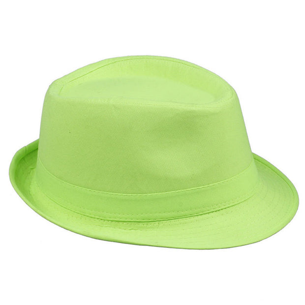 12's Summer Fedora - Neon Green