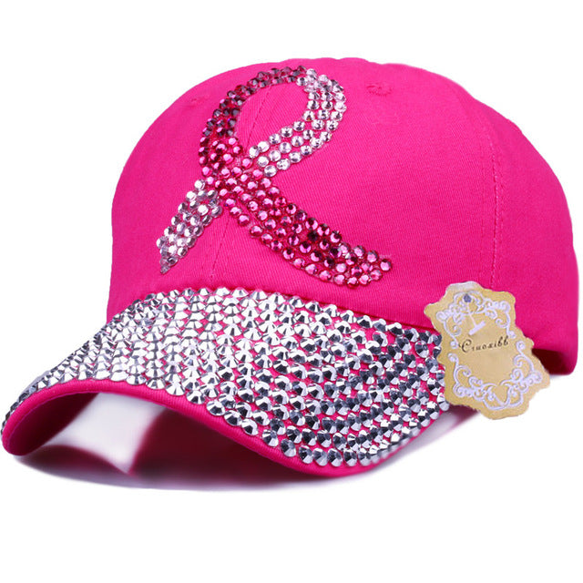 #Breast Cancer Awareness Month - BLING Baseball Cap