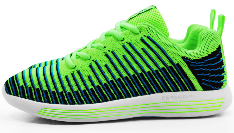 12 Inspired Shoes - Neon Green and Navy - Women's
