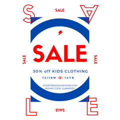 Annual Kids Clothing SALE- 30% OFF