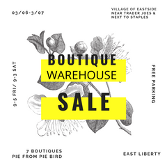 Pittsburgh Boutique Warehouse Sale 2020