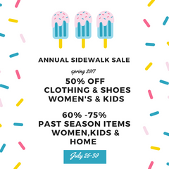 Annual Sidewalk SALE