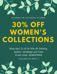 30% OFF WOMEN'S COLLECTIONS