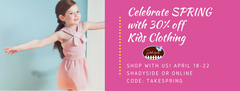 Celebrate Spring with 30% off Kids Clothing