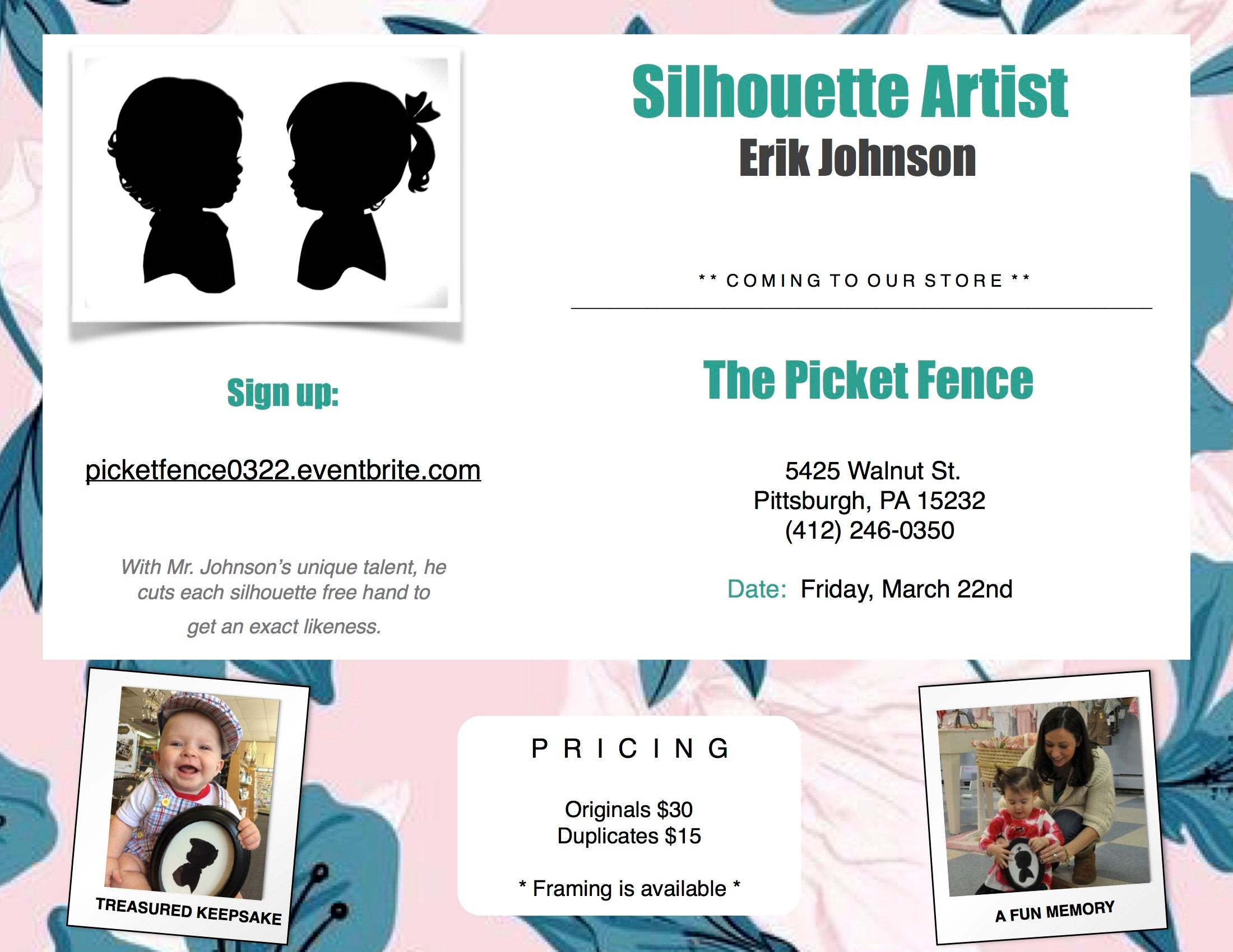Silhouette Artist Erik Johnson Event