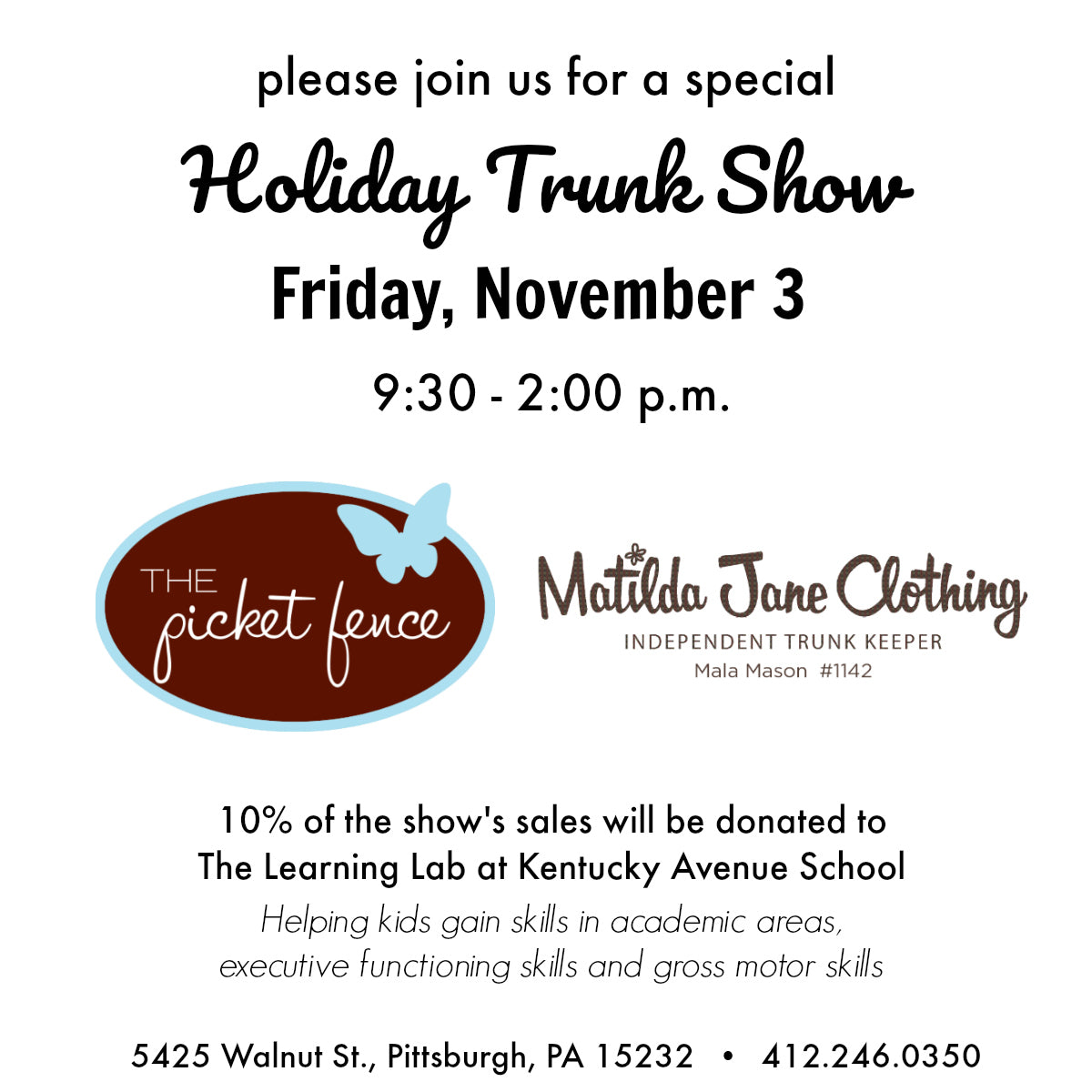 Matilda Jane Trunk Show