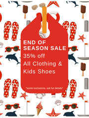 End of Season SALE 35% OFF