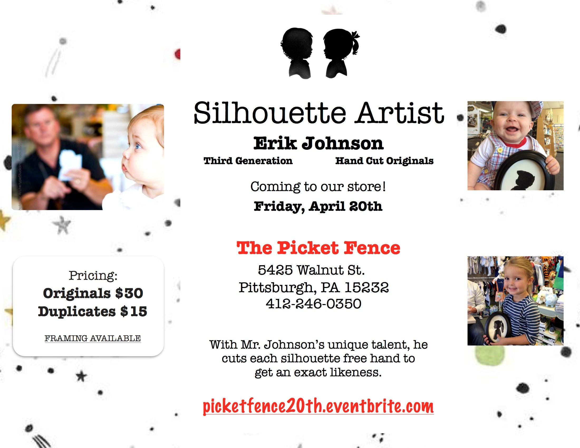 Silhouette Artist Erik Johnson, April 20th