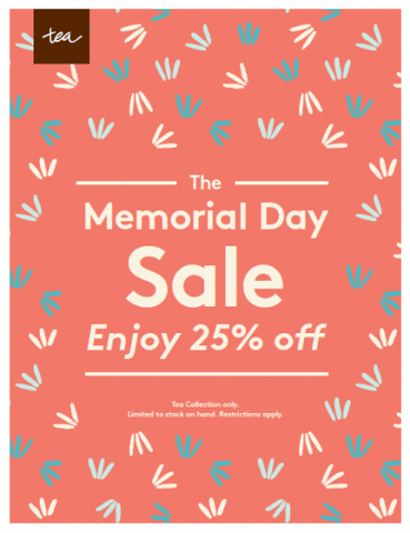 Tea Collection Annual Memorial Day SALE