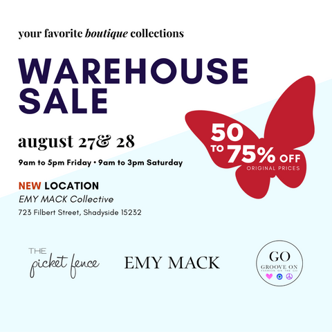 Annual Warehouse Sale August 27 & 28