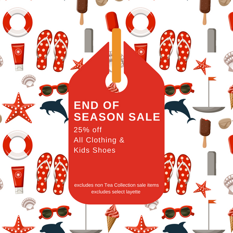 End of Season SALE 25% OFF