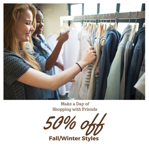 Getting Ready for Spring Arrivals, 50% off Fall
