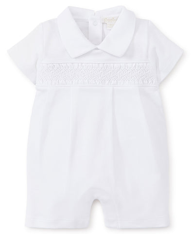 Short Shortall with Hand Smocking