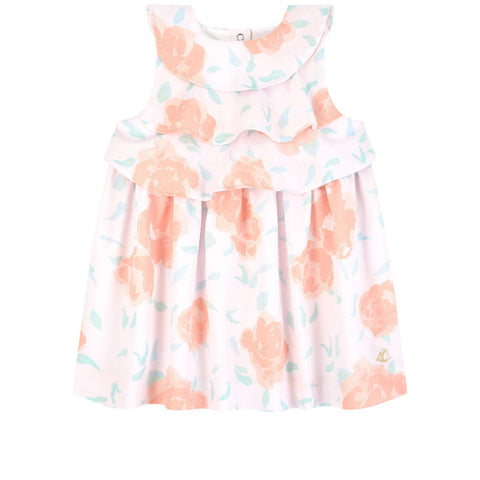 BABY DRESS - Floral Printed Dress With Ruffle