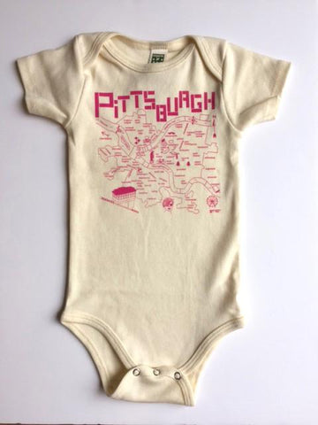 Baby Gift - Pittsburgh Map Onesie