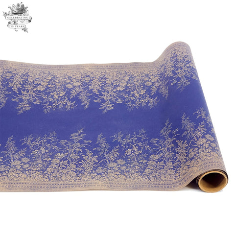 Home Entertaining - Navy Woven Floral Table Runner