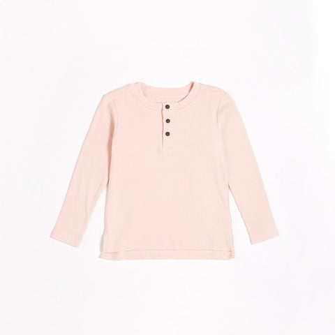 KID OUTFIT - Rose Modal Rib Henley Top