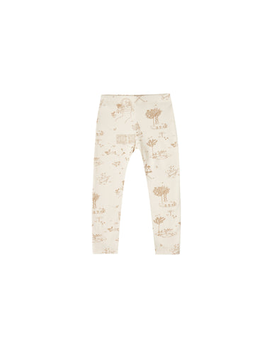 KID PANT - Secret Garden Legging || Natural