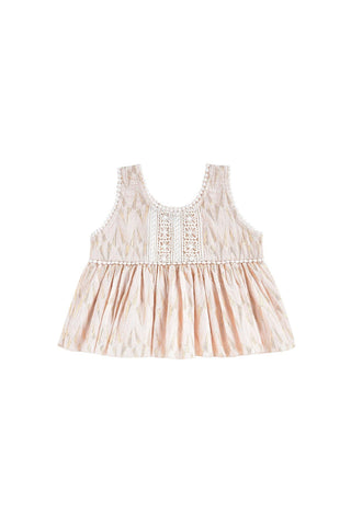 KID SHIRT - Top Lomedeo Blush Psyche Lurex