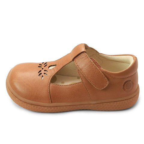 Kid Shoes - PRIM T-Strap In Toffee