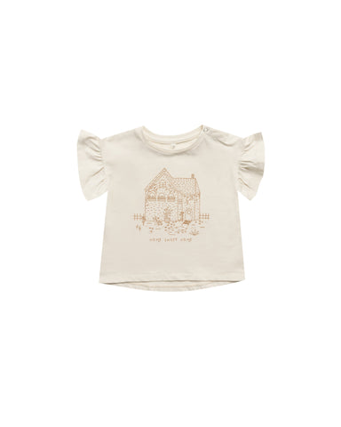 KID TEE - Home Sweet Home Flutter Tee || Natural