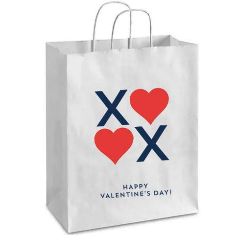 STATIONARY - XO VALENTINE'S DAY WHITE PAPER GIFT BAG | SET OF 2
