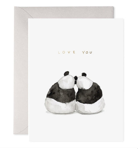 Valentine - Panda Pair Card