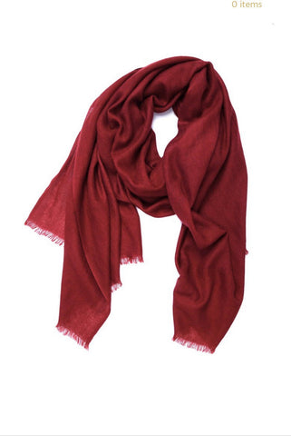 WOMEN'S ACCESSORY - Cashmere Basic Scarf In Wine