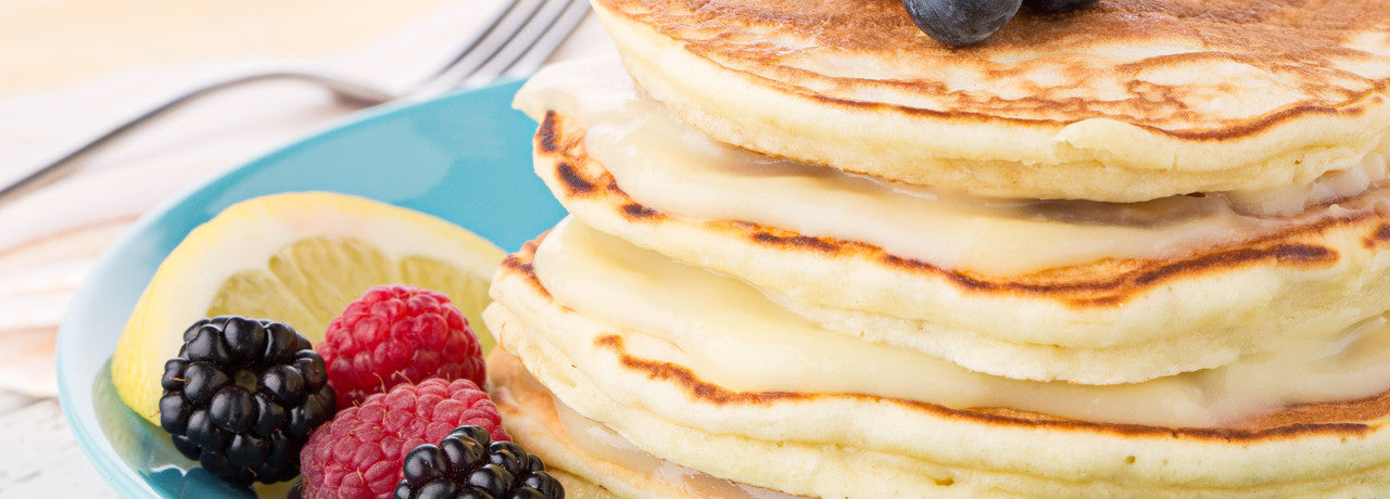 lemony goodness pancakes & berries