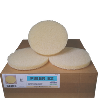 "Fiber EZ 8"" Beige Carpet Maintenance Pads"
