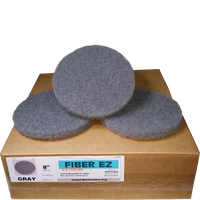 "FiberPro 8"" Gray Carpet Maintenance Pads"