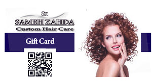 Sameh Zahda Custom Hair Care Gift Cards, servicing The San Francisco Bay Area