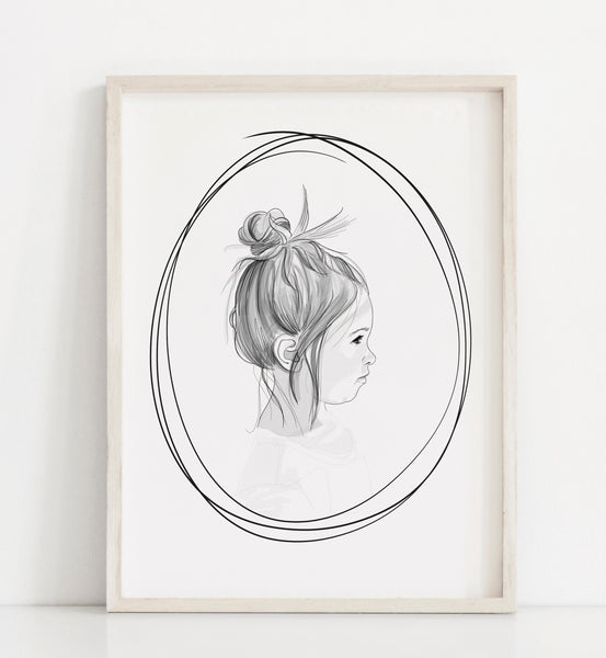 The Sketched Silhouette Portrait