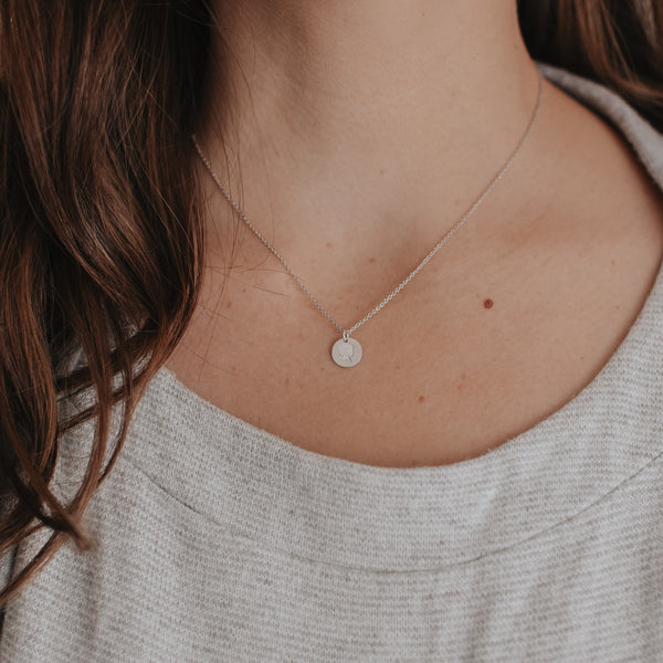 The Sterling Silver *Petite* Coin Necklace