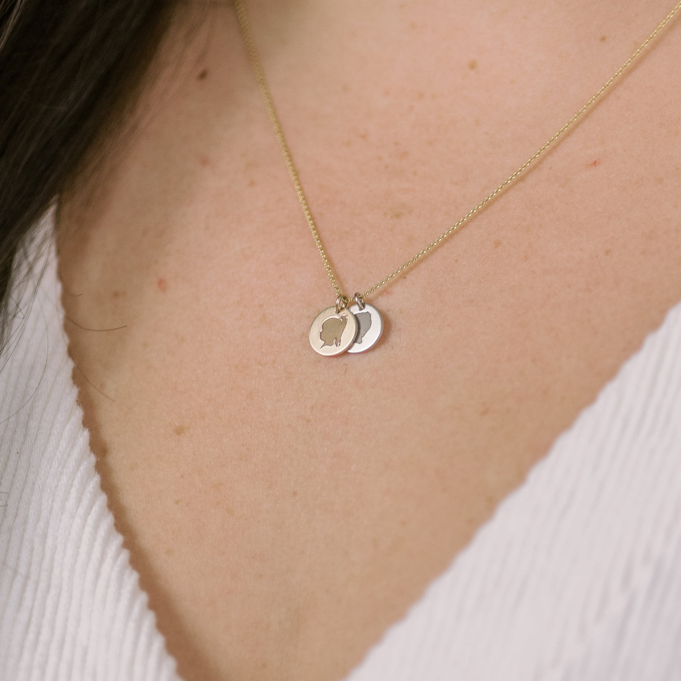 The 14k Solid Gold *Petite* Coin Necklace