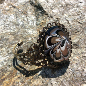 Bracelet, Black, Gold and White-Jewelry-Fullamoon Designs
