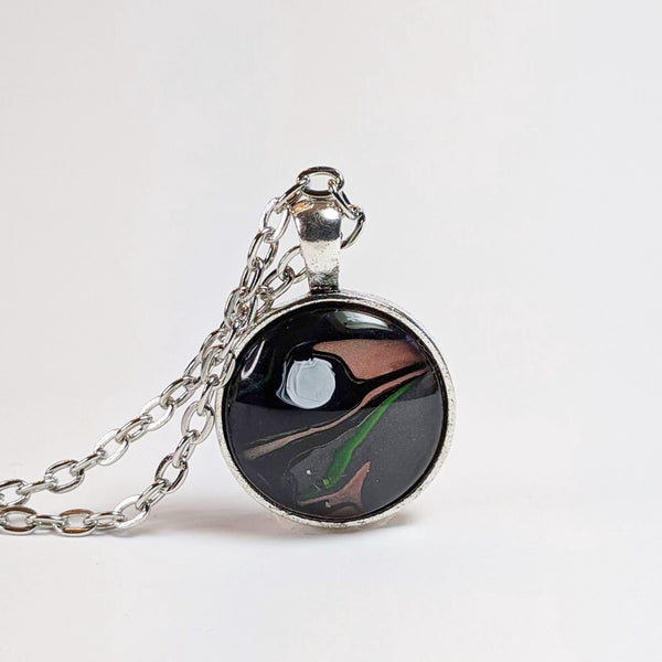 Small Round Pendant Necklace, Big Bang Galaxy-Jewelry-Fullamoon Designs