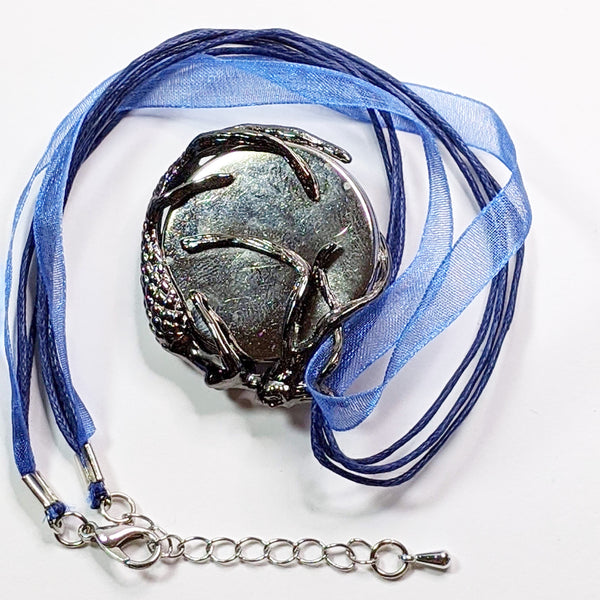 Pendant Necklace, Mermaid with Blue Ocean