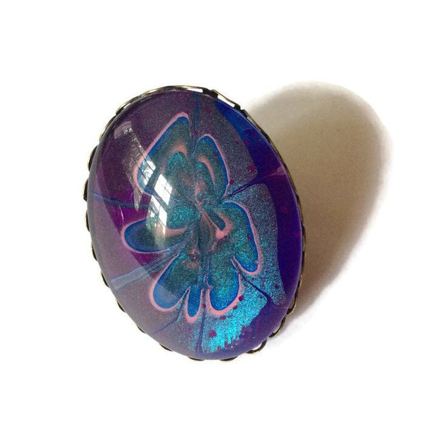 Ring, Purple and Blue-Jewelry-Fullamoon Designs